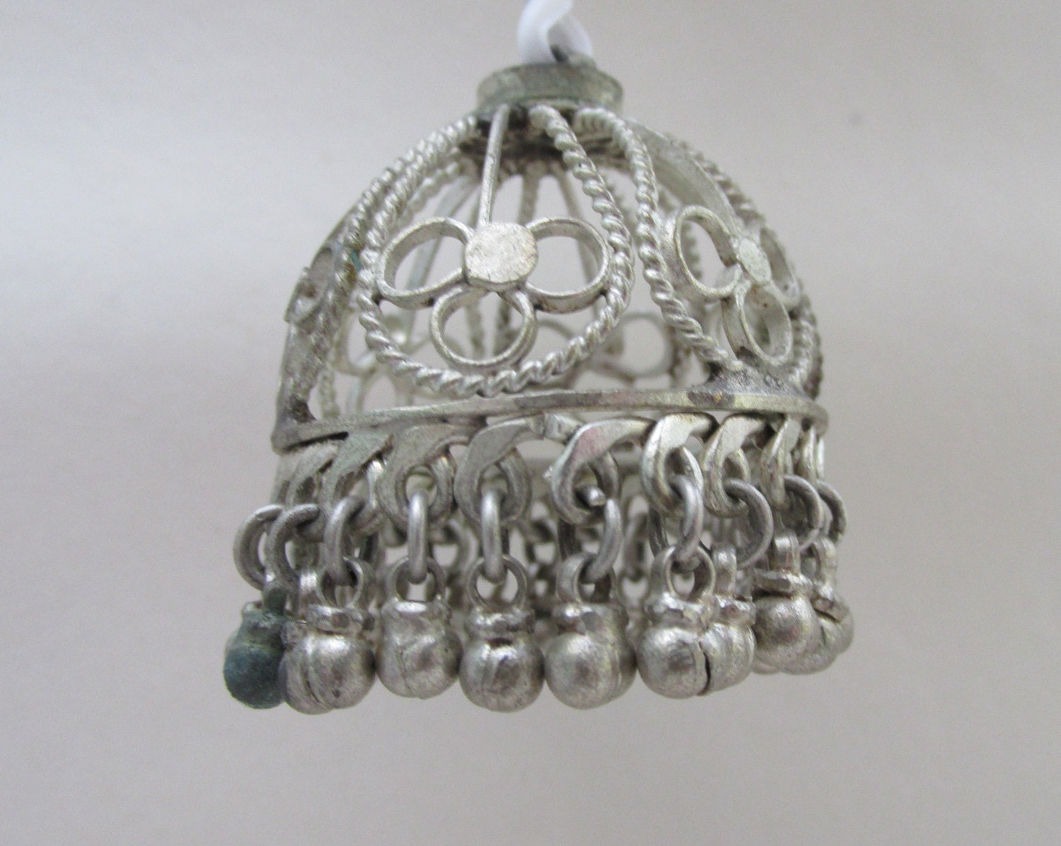 Fabulous Vintage Bohemian Dolls House Miniature Metal CageStyle Hanging Light ShadeCeiling Shade