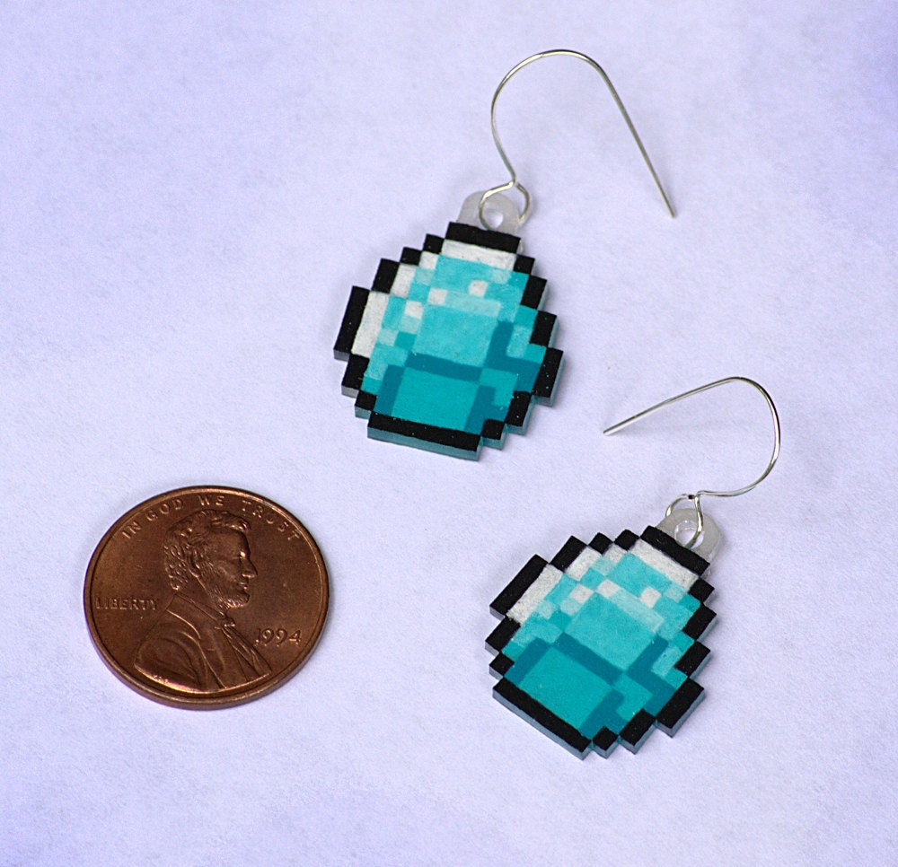 Minecraft Earrings Studs
