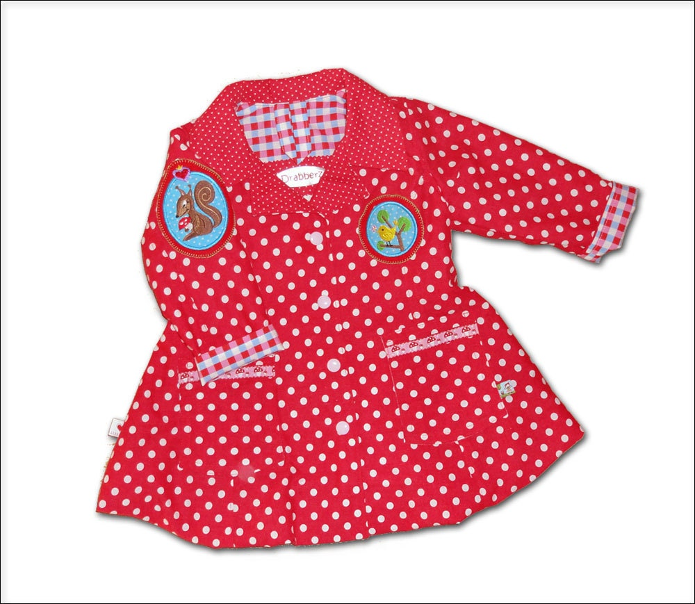 Little Red Riding Hood Girls Spring Coat Summer sz 12- 18 mos Balloon bubble jacket