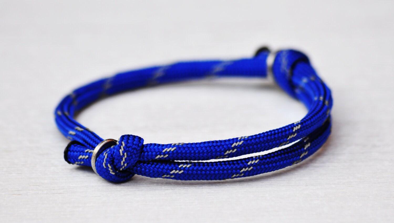 PREPPY PARACORD Bracelet by MOONDROPS. Cobalt Blue (more colors available)