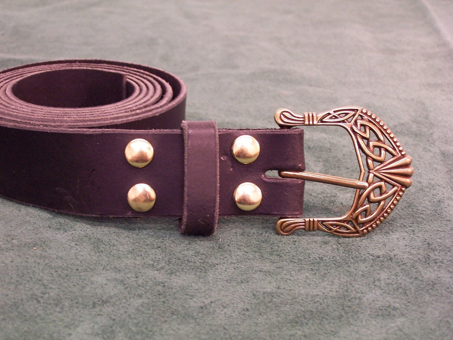 items similar to handmade leather belt w celtic viking