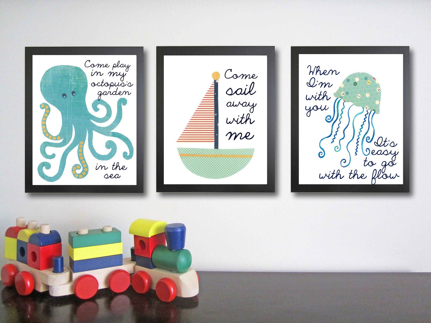 Nursery Art Children's Quotes Nautical By FitToPrintDesigns