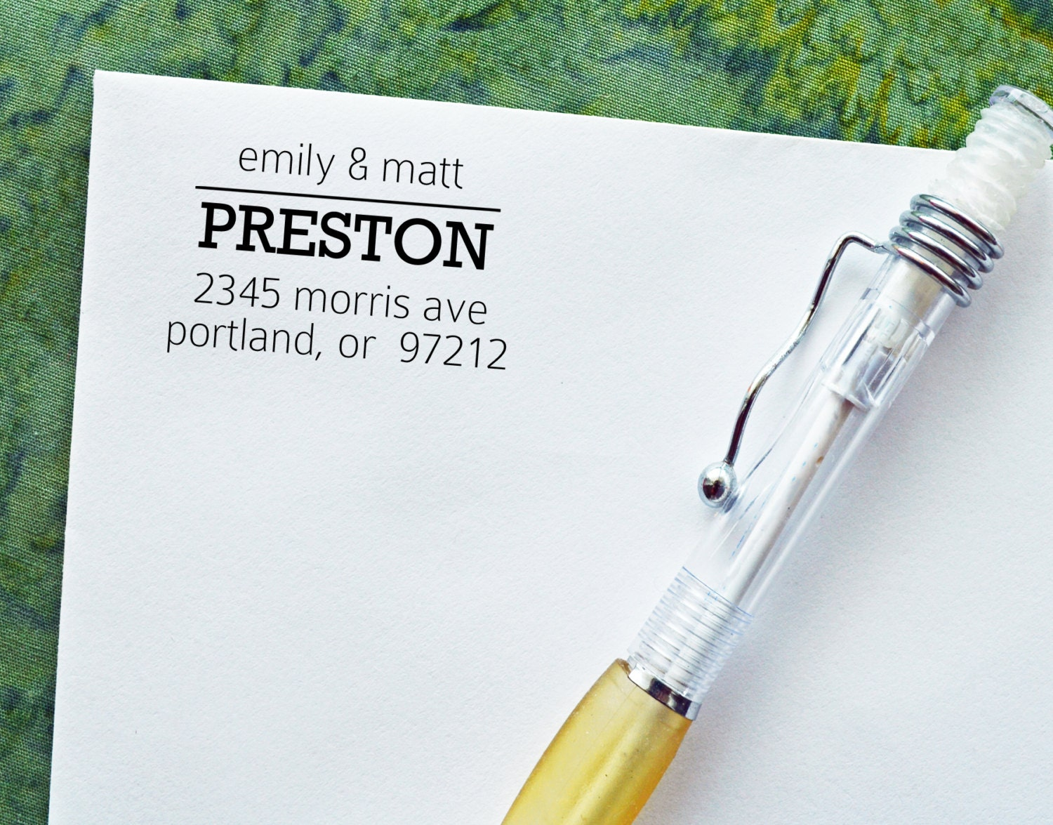 Personalized address stamp housewarming gift by stamptheenvelope - Return gifts for housewarming function ...
