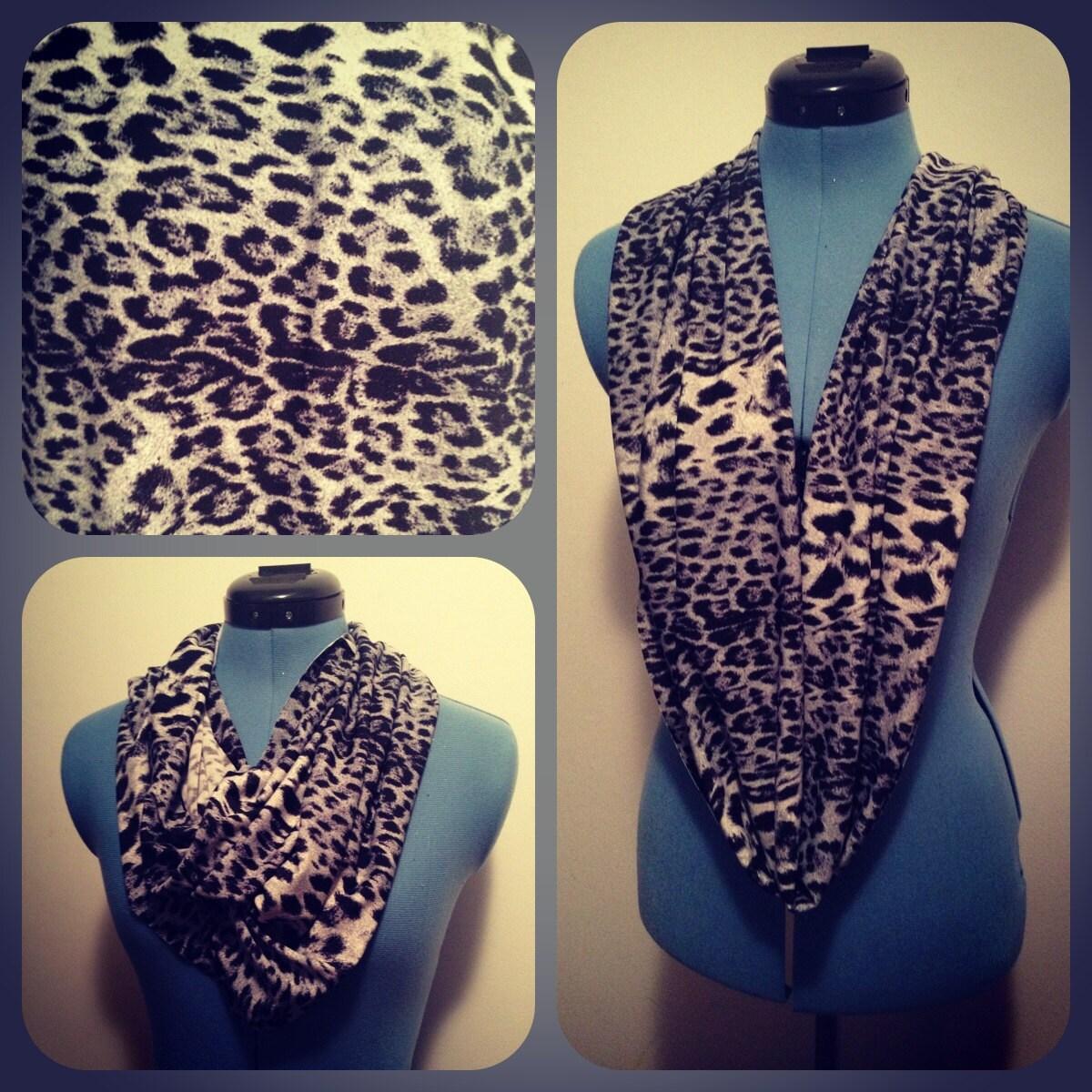 cheetah print knit infinity scarf by capurrocustoms on etsy