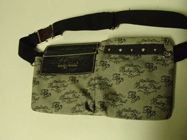Baby Phat Pouch Fanny Pack Purse Black White By Lucky13vintage