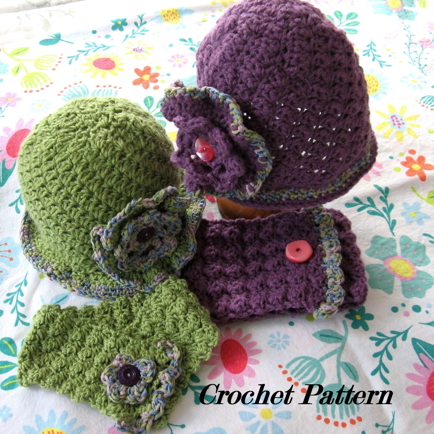 Crochet Pattern Neck Warmer : Crochet Pattern Hat And Neck Warmer With Large by ...