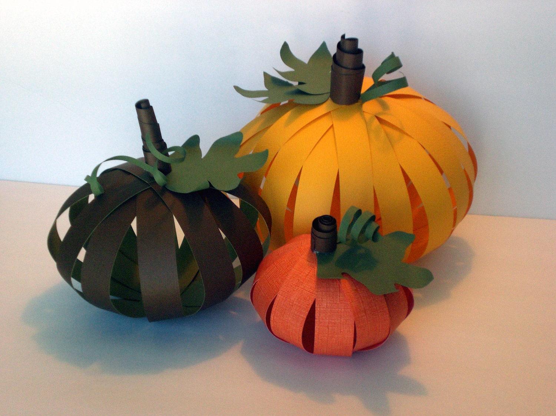 Fall Decor -  Paper Pumpkins