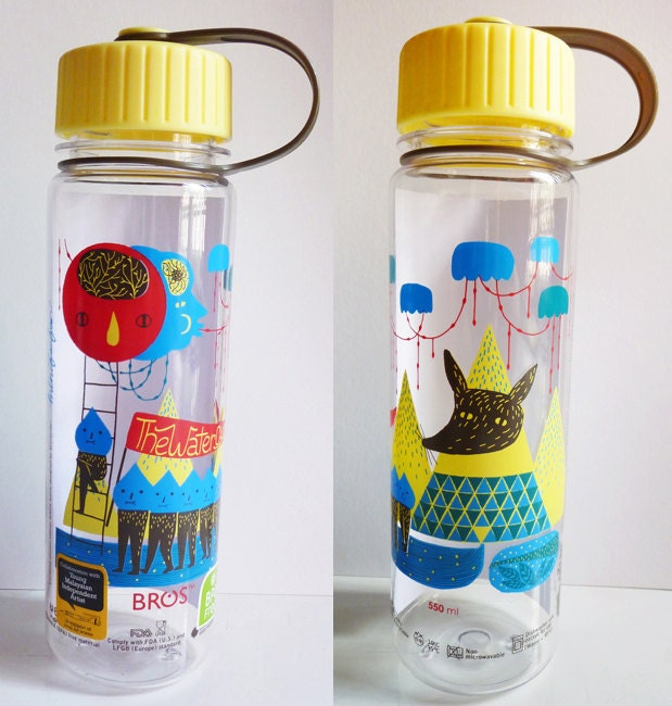 The Water Cycle - Collaboration with BROS Crystal Plus BPA Free 'Artist Series' Bottles - Limited Edition