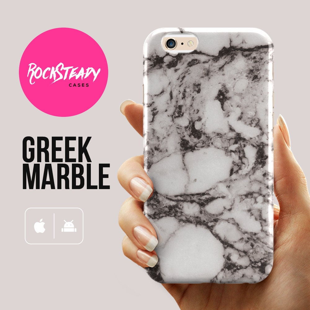 Black and White Greek Marble iPhone 6 case Samsung Galaxy s6 case 6s Plus case iPhone 6s case Galaxy S5 case Marble stone pattern