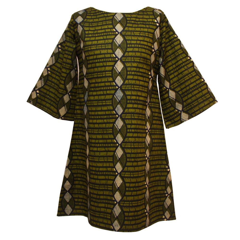 Tunic top African print Tunic African Fashion Green tunic African tunic Ankara Print Dress Loose fit tunic top Tunic dress