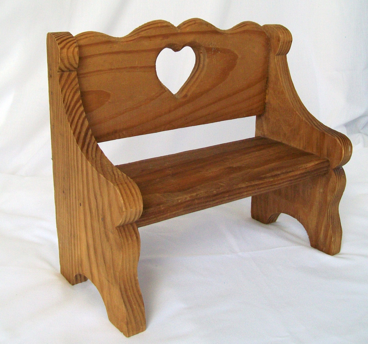Vintage Doll Bench Chair Hand Made Seat Natural By Pinkpainter