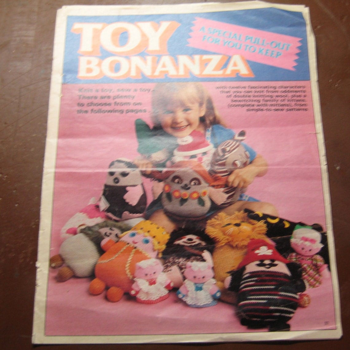 Vintage Knitting Patterns Toys : Vintage Knitting Patterns Toy Bonanza by hmbstudiossupplies