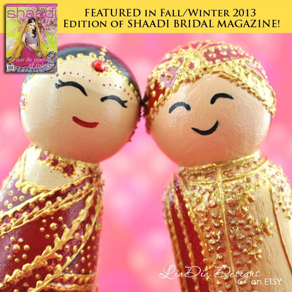 Ready To Ship Cake Topper Cute Indian Kokeshi By LiaDiaDesigns