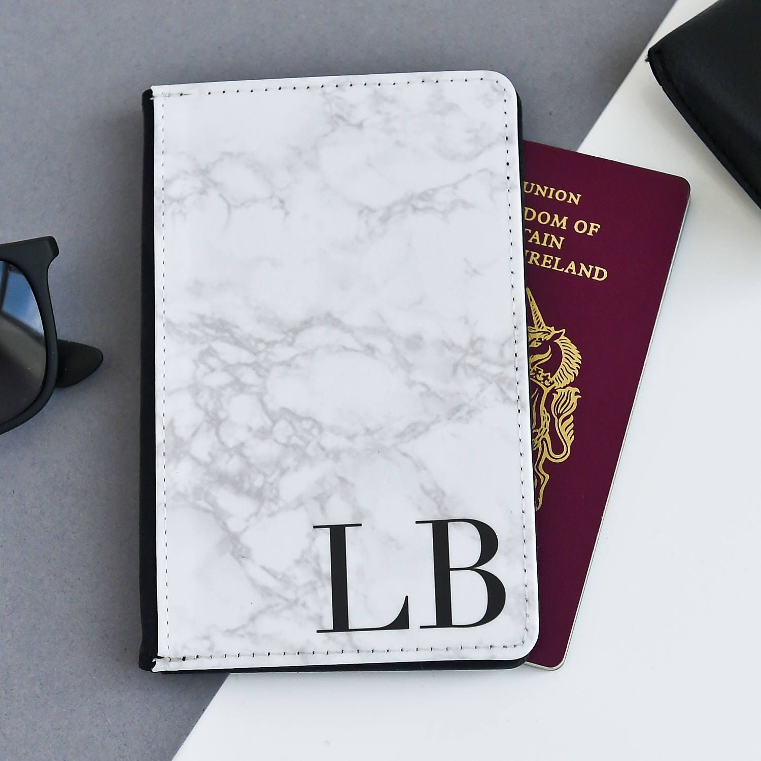 Marble Passport Cover   Personalized Passport Cover Holder  Custom passport holder  Marble passport wallet Personalised Passport Gift