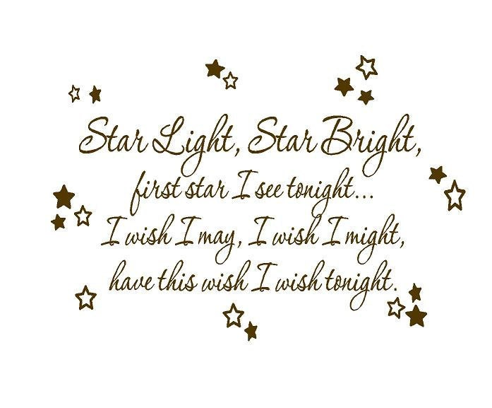 Star Light Star Bright Wall Decal Baby By Openheartcreations