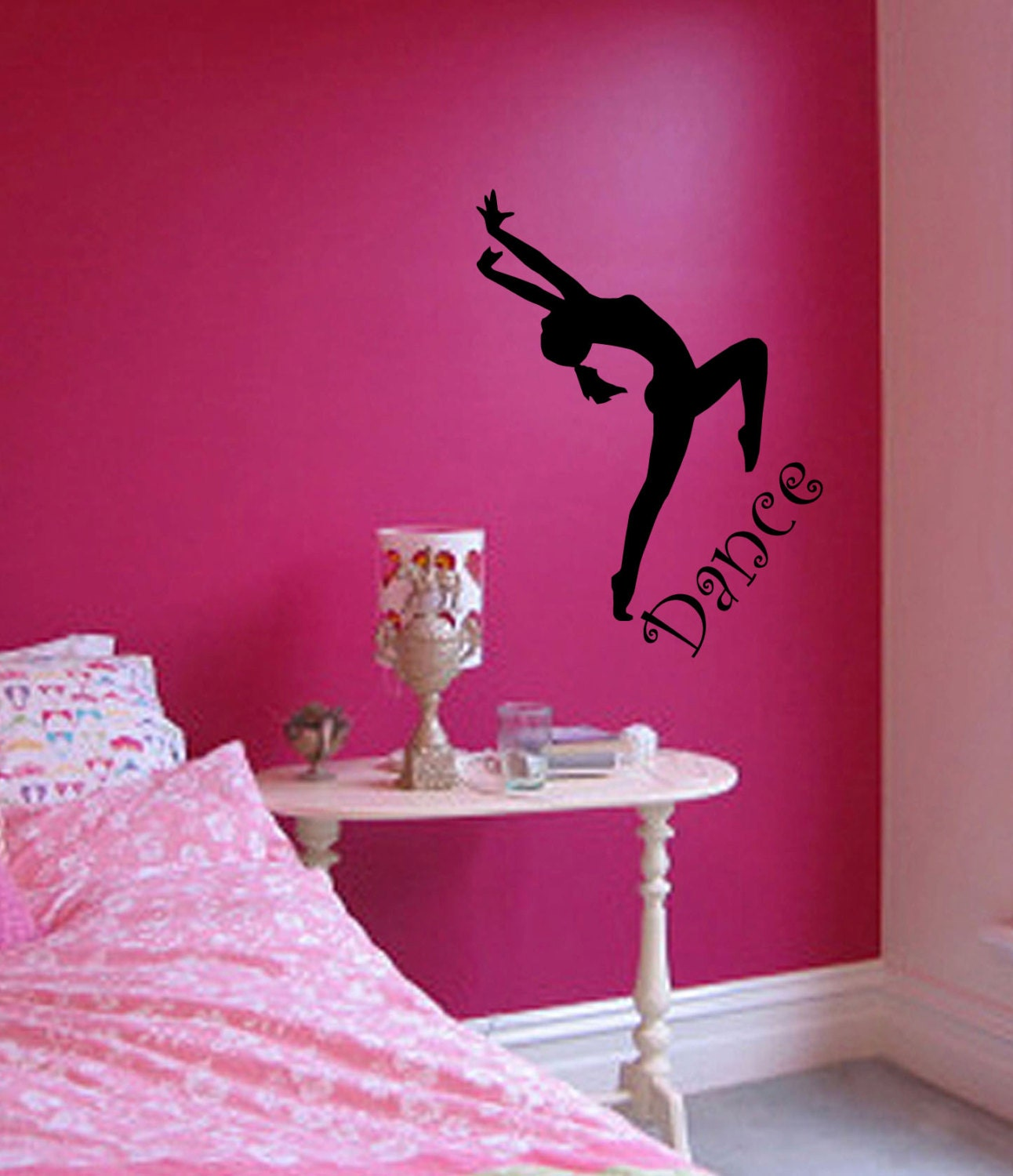 Wall Decor Painting Bedroom : Dance bedroom stickers wall art decor sticker by