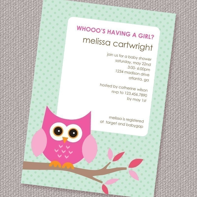 owl baby shower invitations etsy image search results