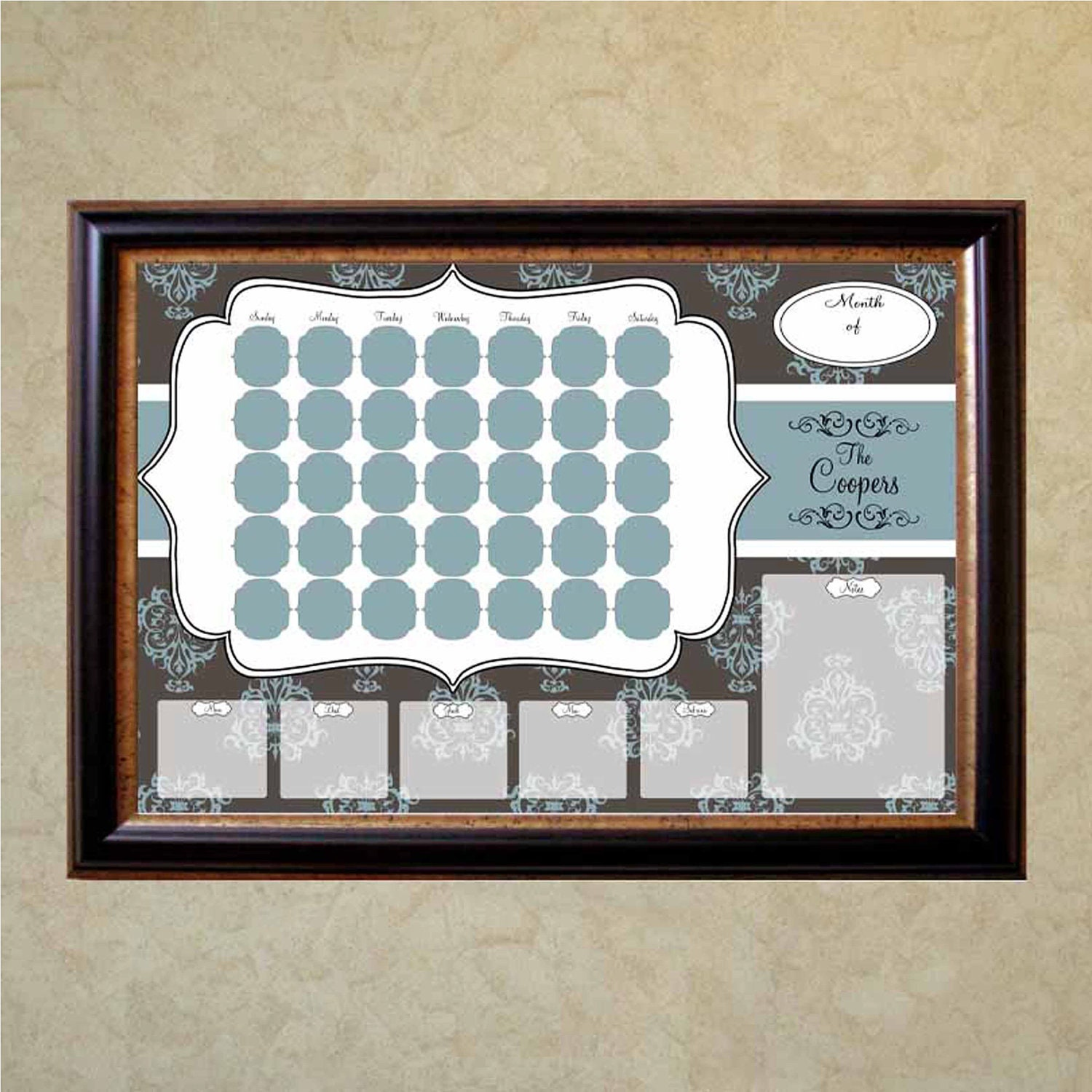 Items Similar To Personalized Wall Calendar Dry Erase