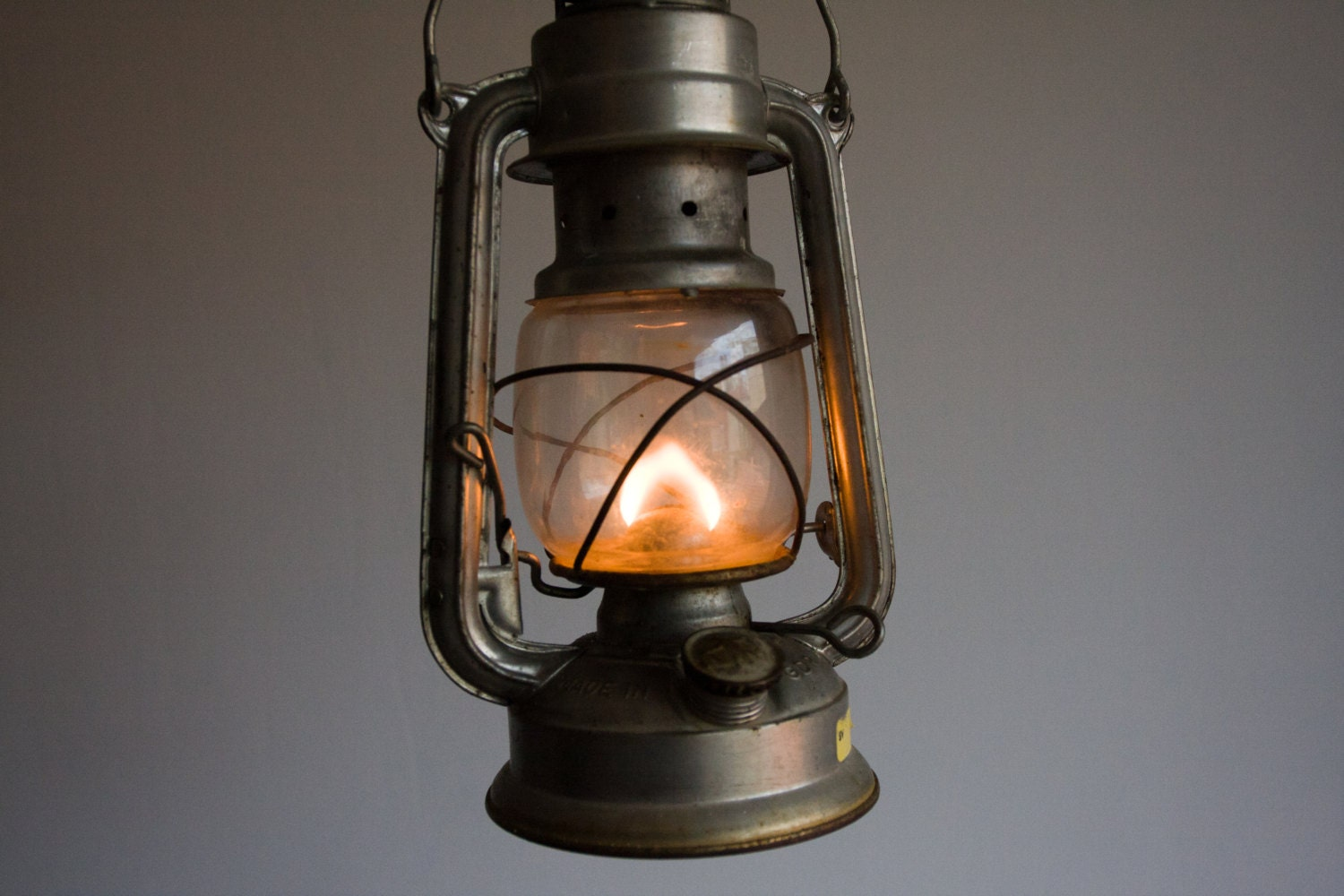 Vintage Gas Lantern, German Gas Lamp, Nightlight, Bat N 158, Made in GDR, Black, Dark, Fire, Camp, Storm, Dude, Man, Dad, ohtteam - TheThingsThatWere