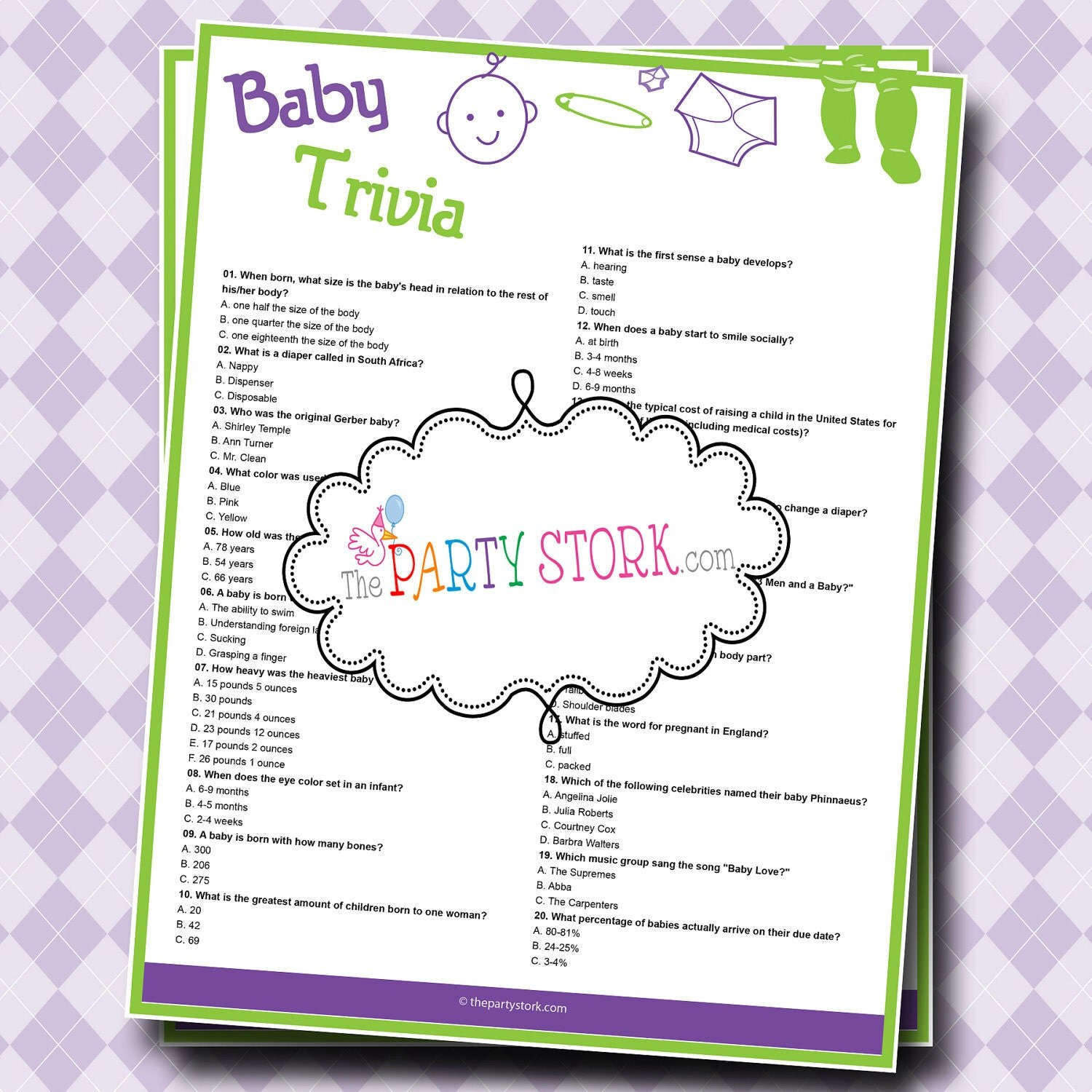 baby shower trivia game printable boy or girl shower game many more