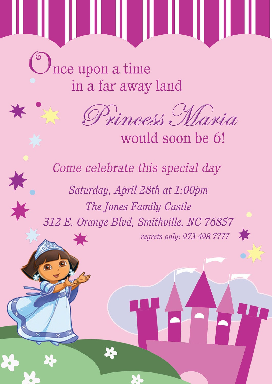Dora Birthday Invites Image collections - Invitation Templates Free ...