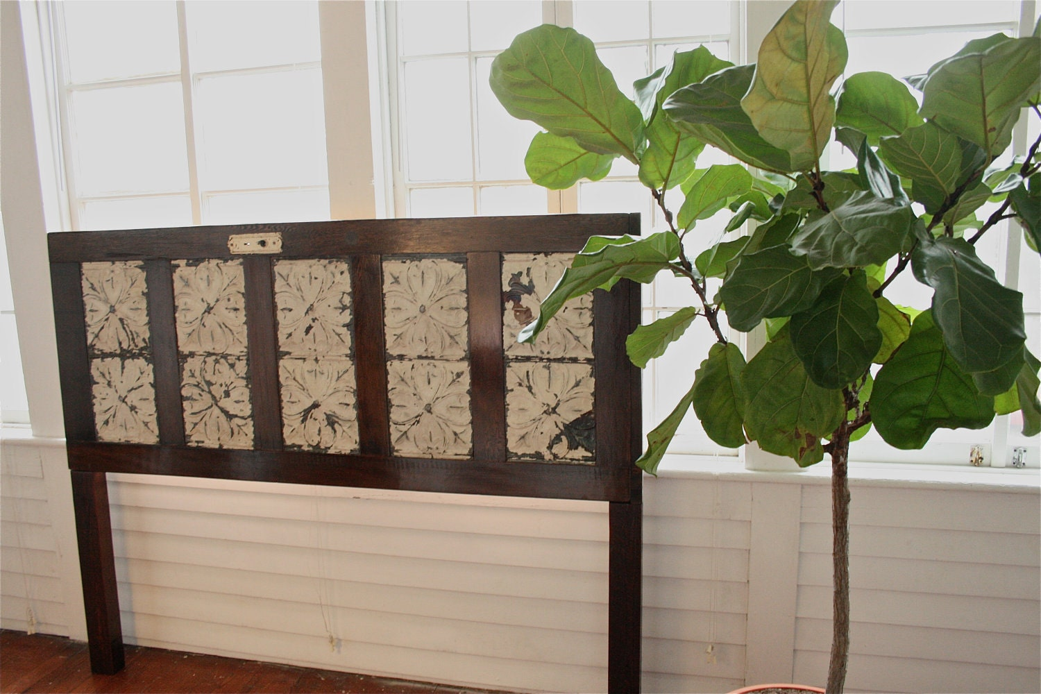 King sized headboard made from old door with by doormandesigns - Headboard made from old door ...