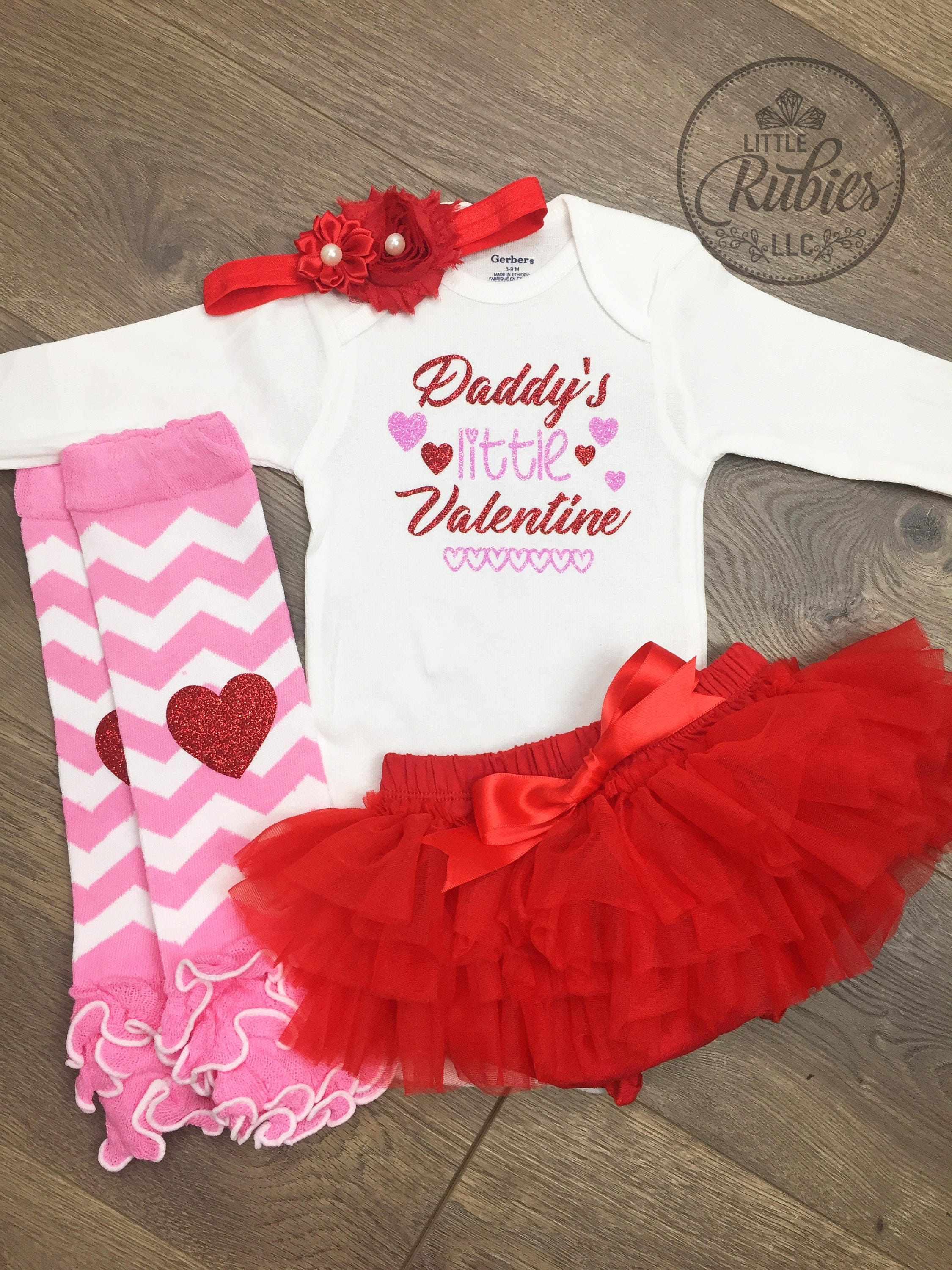 Girls valentines day outfits | Etsy
