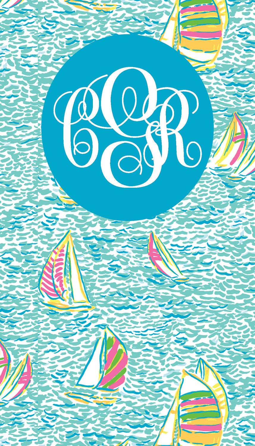Monogram Lilly Pulitzer Iphone Wallpaper By Items Similar To Monogrammed