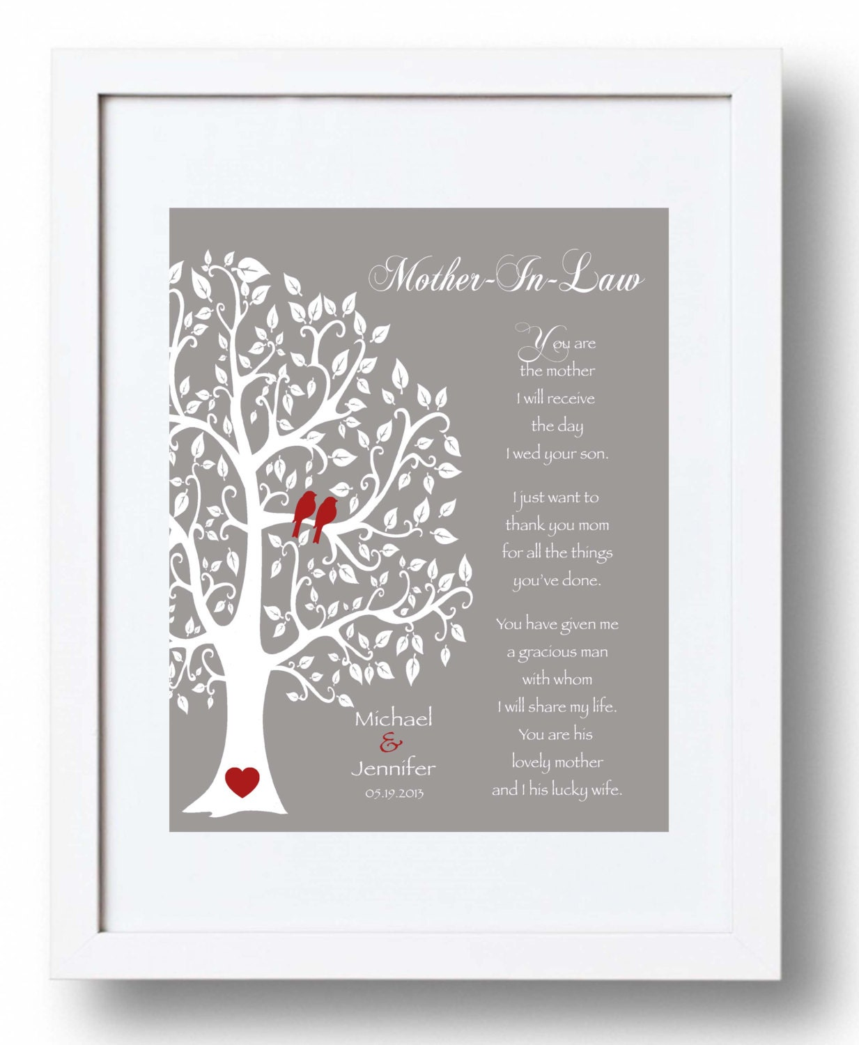 Wedding Gift for Mother In-Law - Future Mom In-Law Gift - Thank You ...