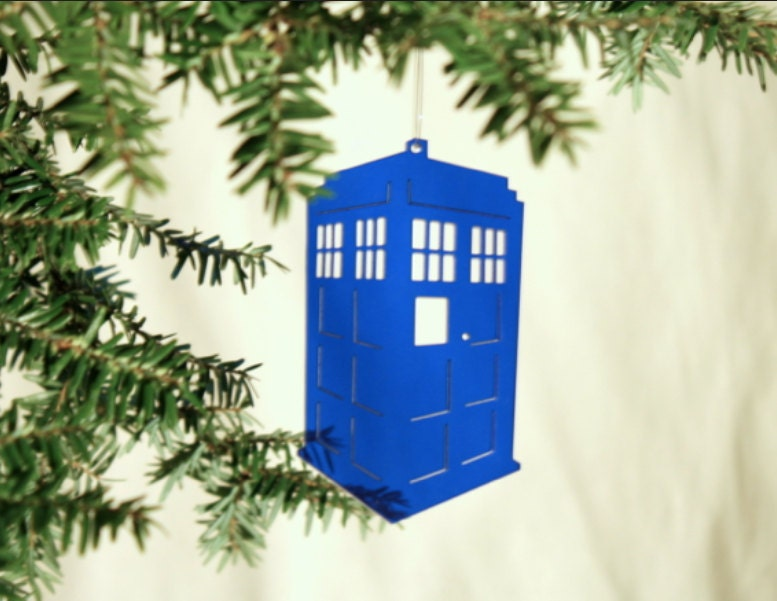Acrylic Doctor Who Tardis Christmas Ornament