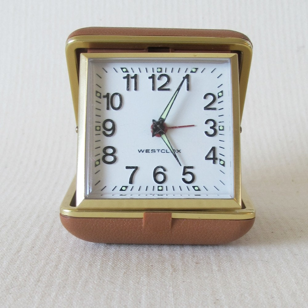 Vintage Wind Up Travel Alarm Clock Westclox by shopthrifted