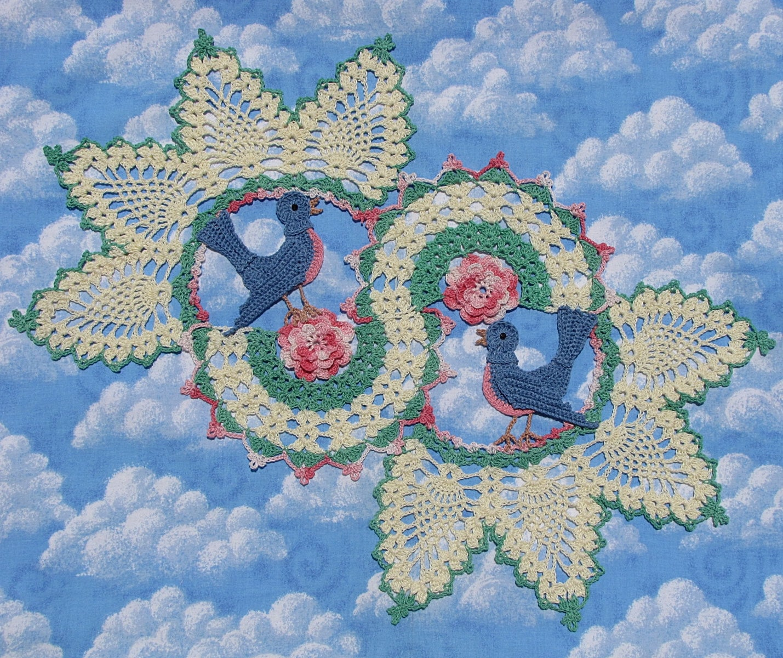 Blue Birds of Happiness PDF Crochet Pattern
