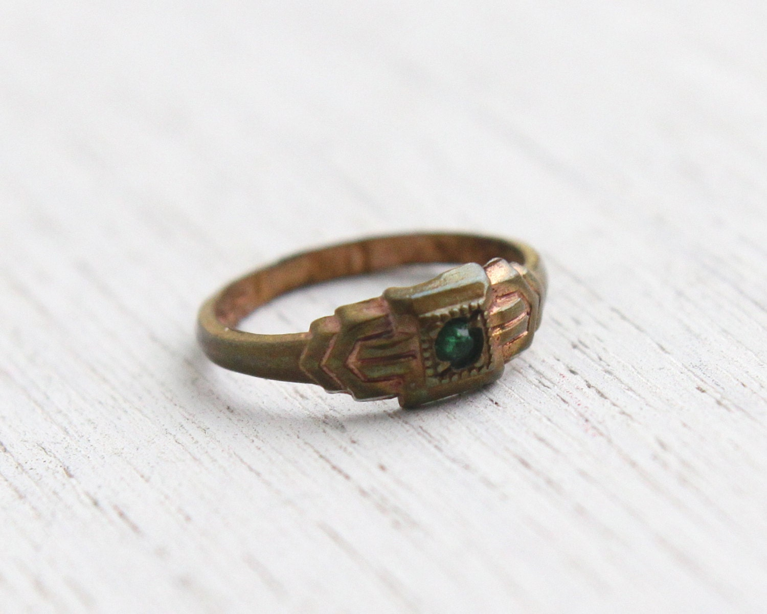 sale antique green baby ring vintage by maejeanvintage