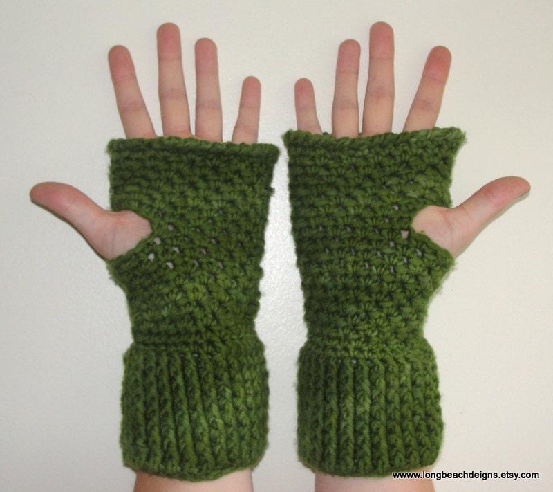 Crochet Pattern Central Fingerless Gloves : Items similar to Crochet Mitten Pattern, Fingerless Glove ...