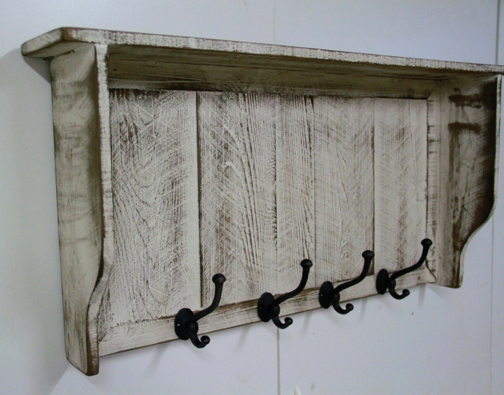 French country coat rack cottage chic coat by lynxcreekdesigns - Adding character to your hallway with a hall tree ...