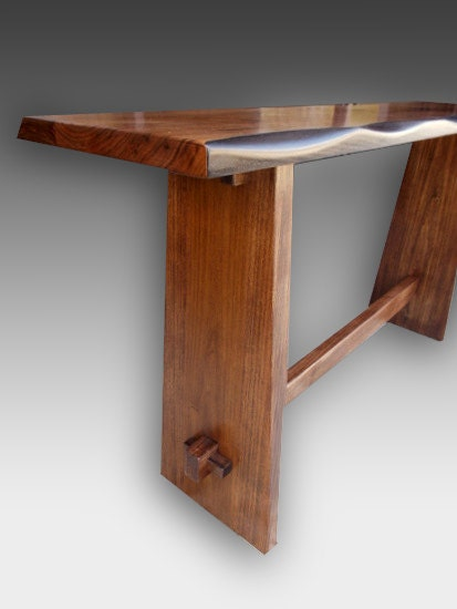 Japanese Style Console Table ~ Japanese kyoto style console table walnut ebay