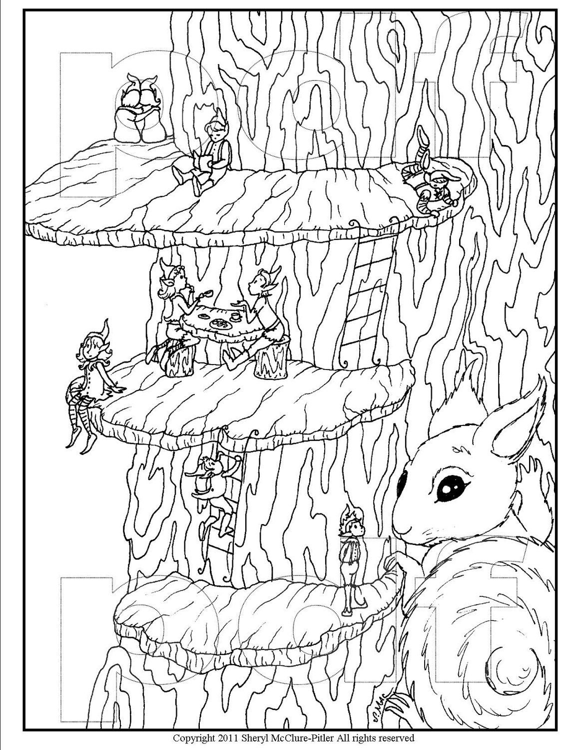 advanced fairy coloring pages - photo#21