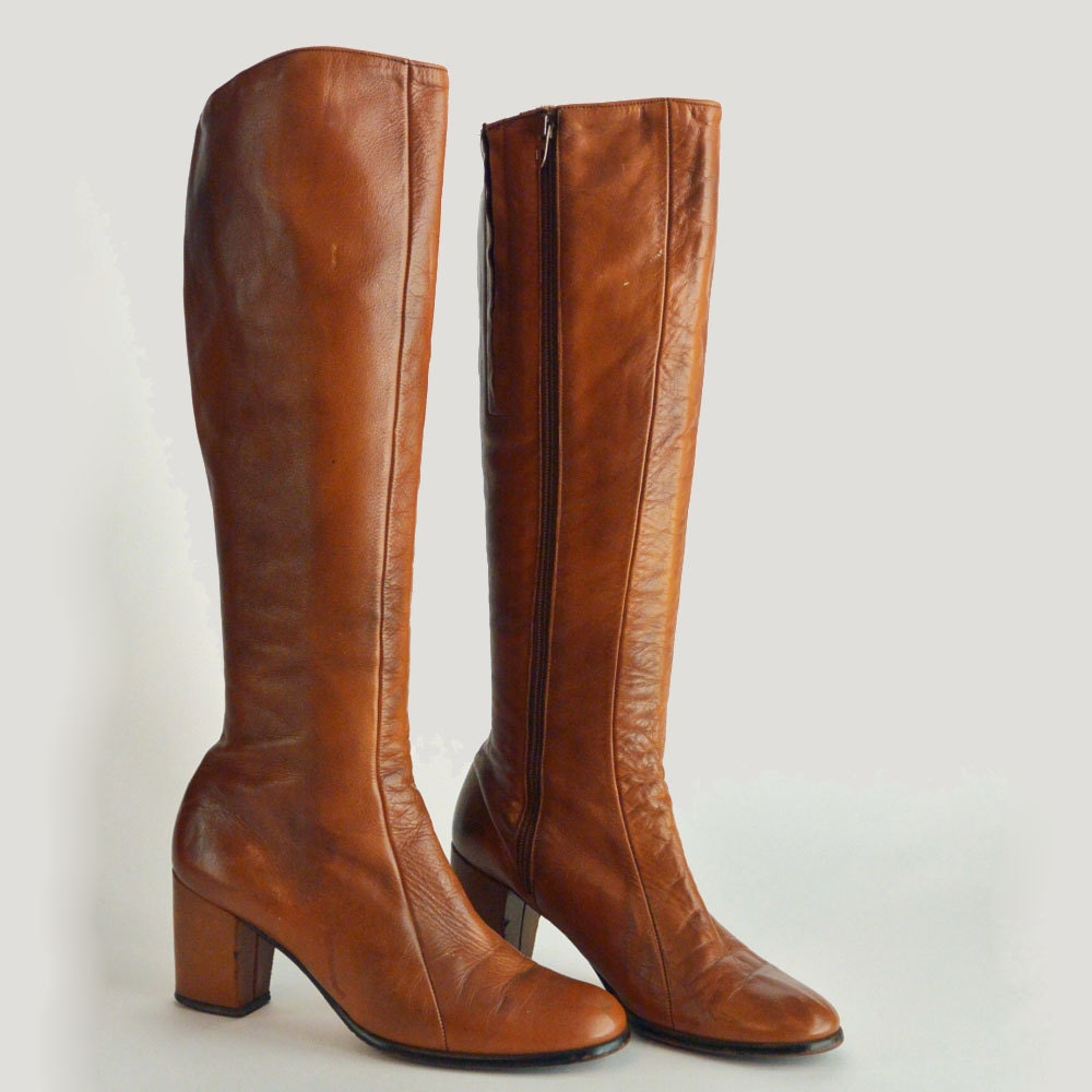 60s vintage leather boots goloboots by