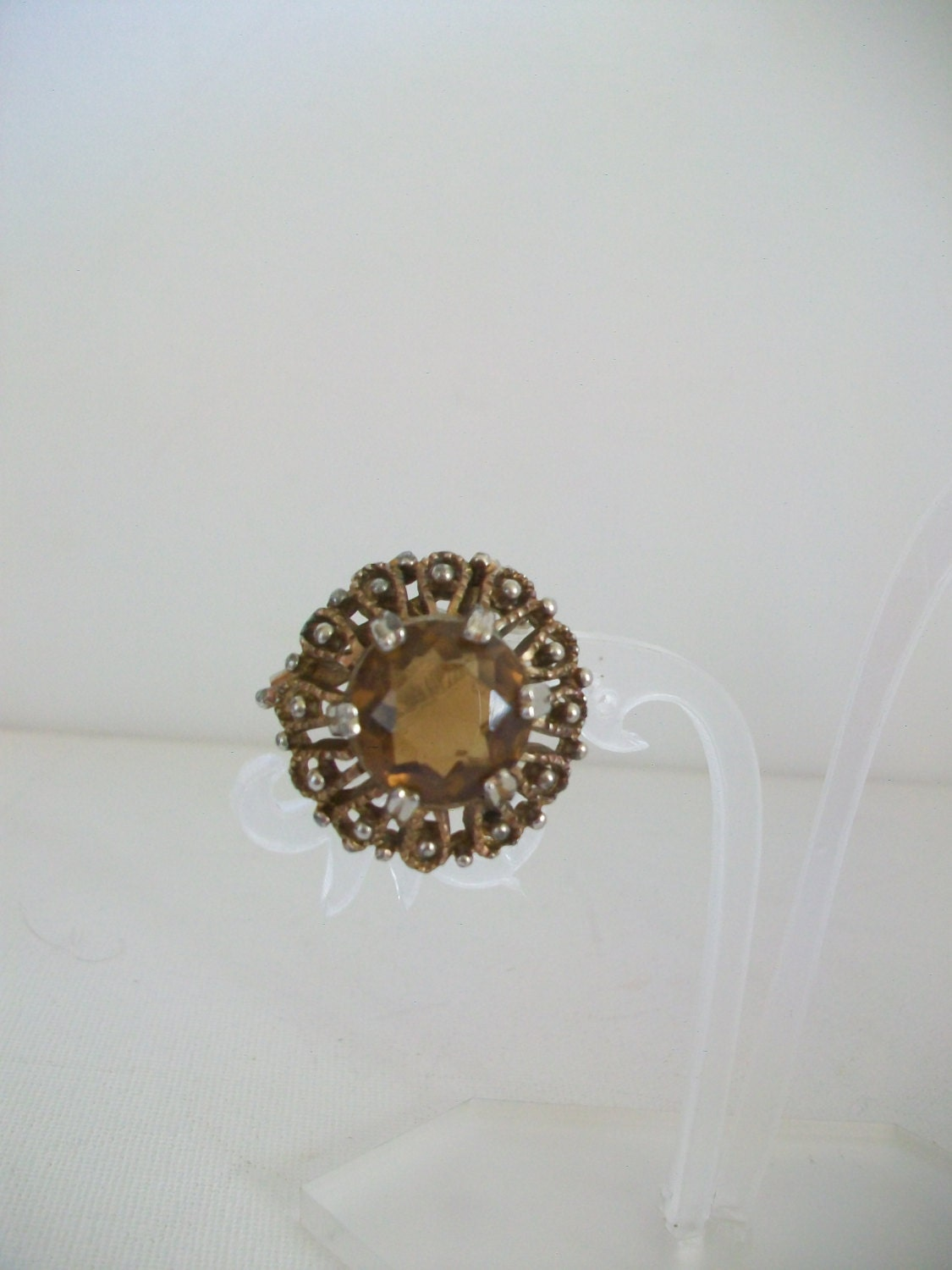 Art Deco Antique 1920s Brooch Pin with Fitting For Pendant