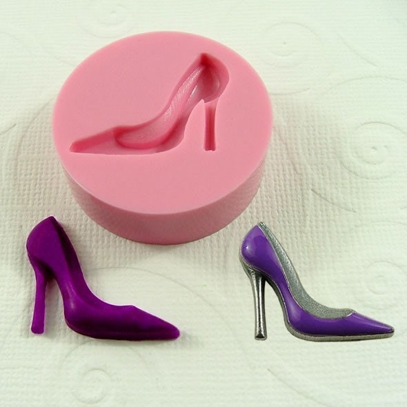 high heel shoe mini mold mould 25mm for by moldmuse