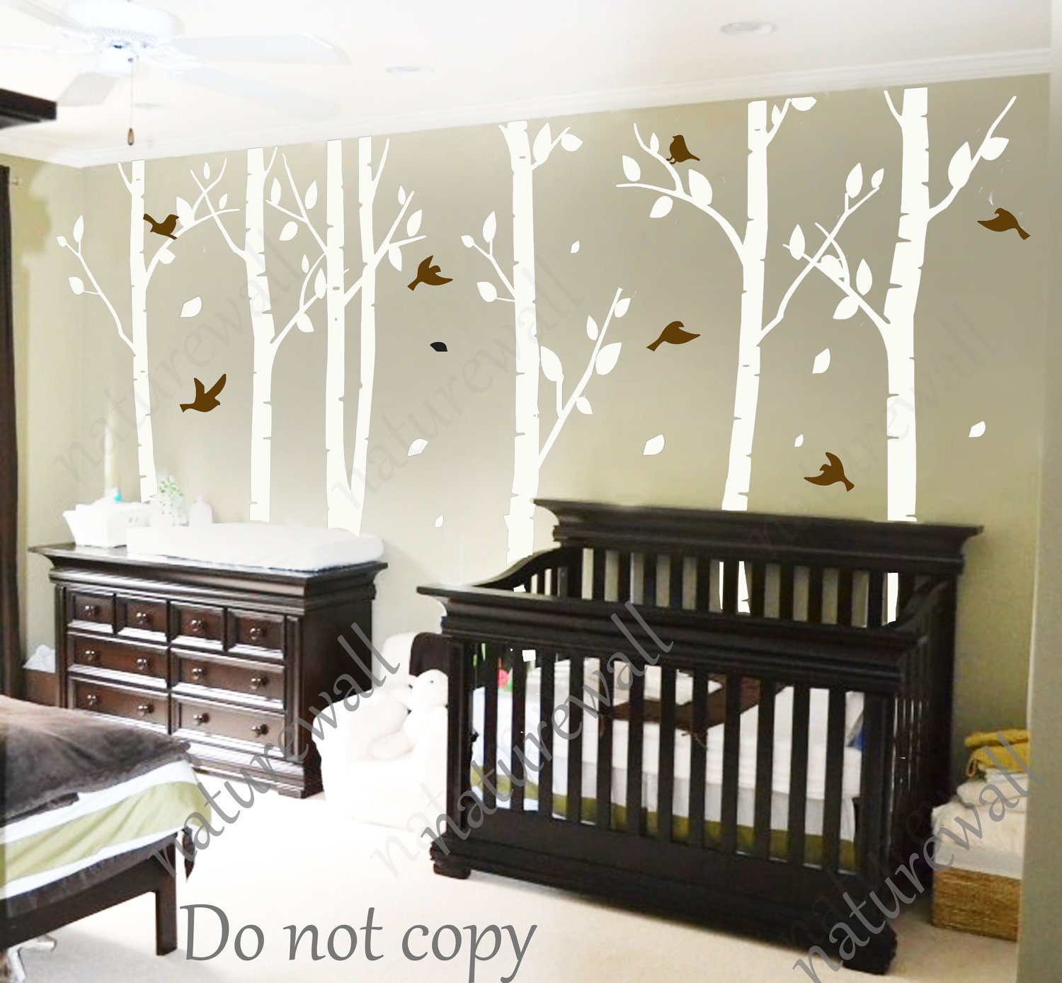 Tree decals nursery decals kids wall decals baby decal for Room decor 5d stickers