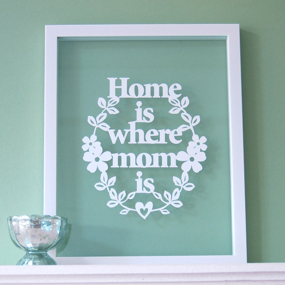 Home is Where MOM Is - Papercut Wall Art