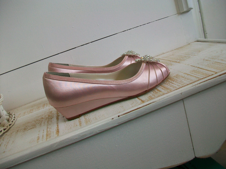 Items Similar To Wedge Shoe Wedding Shoes 1 Inch Wedge Wedding Shoe Bri
