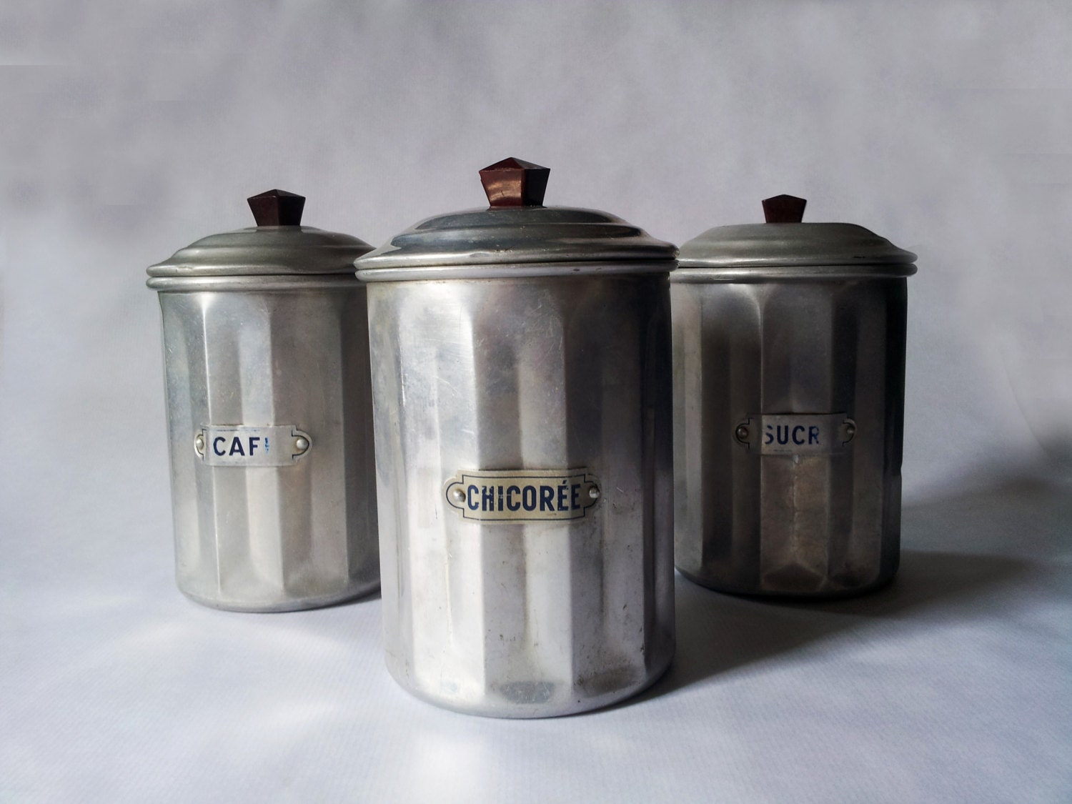 vintage french country kitchen canisters chickens food safe tin canister set rustic french country
