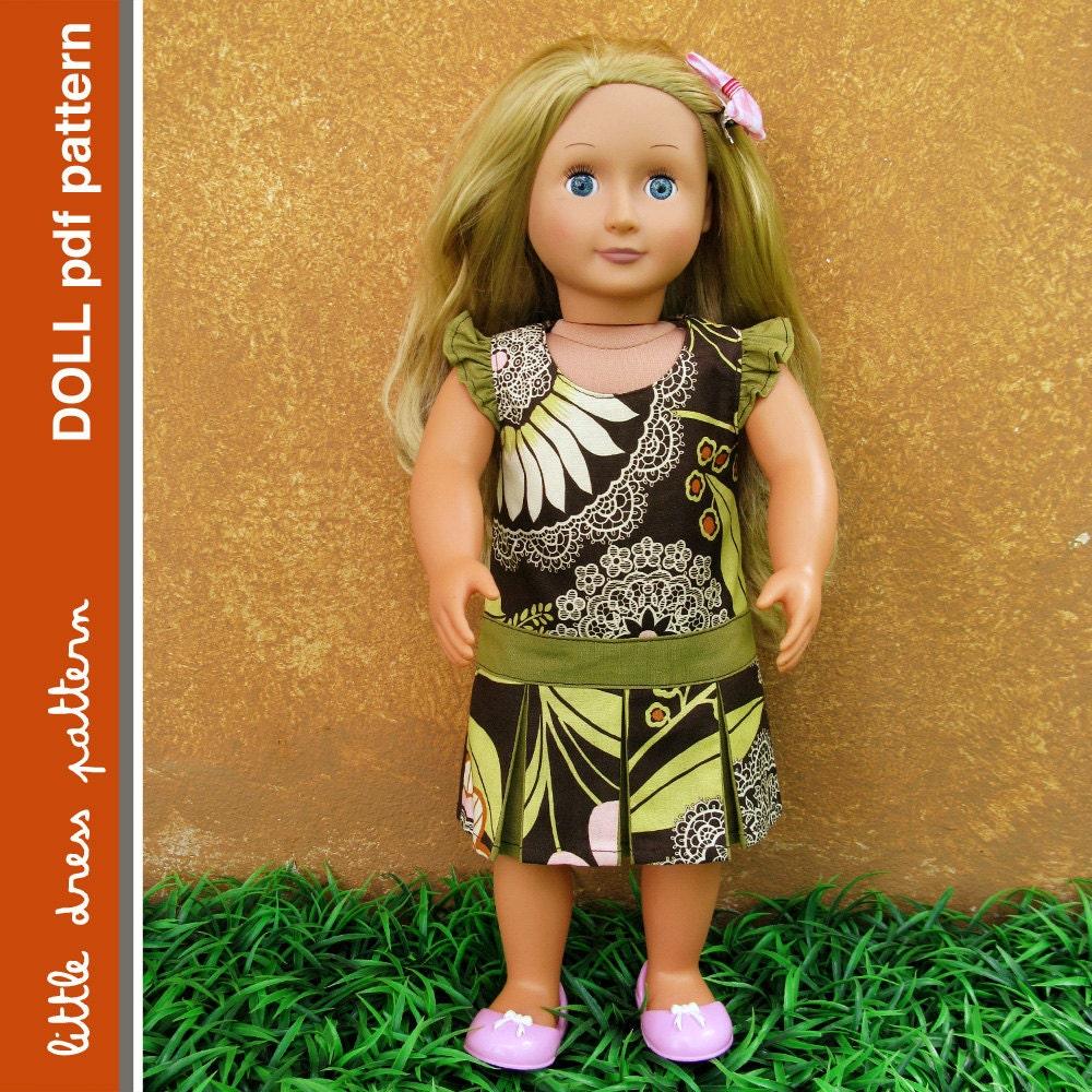 NEW Morgan Doll Dress - PDF Pattern - Doll Size 18 inch