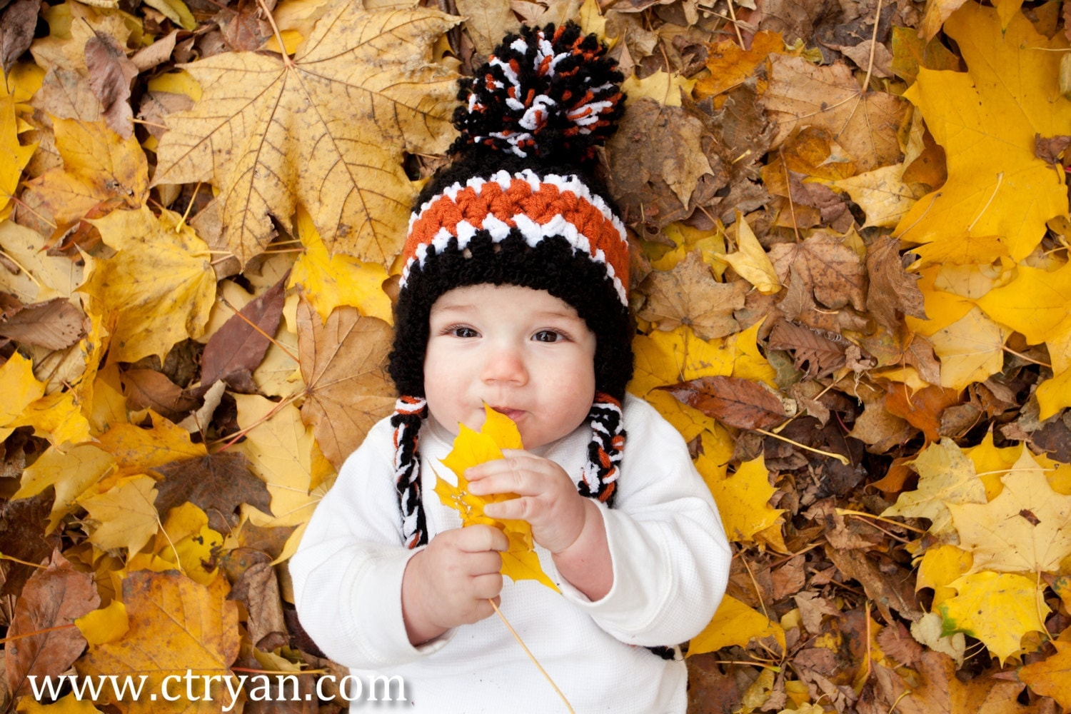 Baby SKI hat - Photo Prop - Soft Winter Hat- ANY 3 Colors - Boy or Girl - Crocheted - pixieharmony