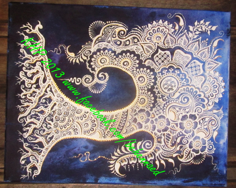 Henna Mehndi Tree : Henna mehndi tree of life canvas custom colors design by