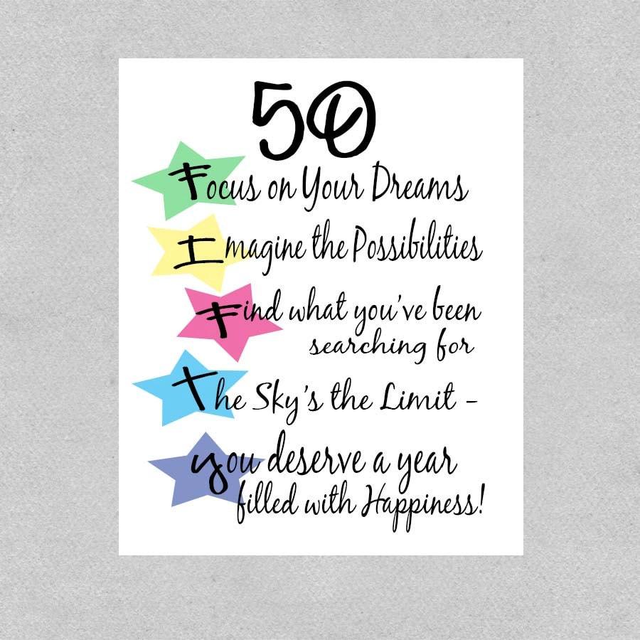 50th birthday milestone sayings