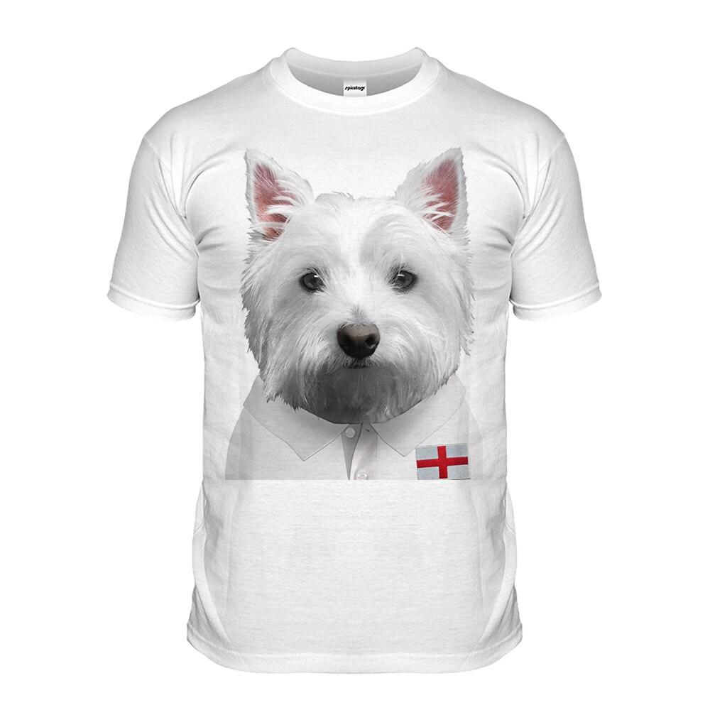 England Rugby Tshirt Westie Tshirt English Puppy Top Scotty Dog Grand Slam Shirt Funny Animal Tee Cute Fashion Womens Mens Kids Lion London