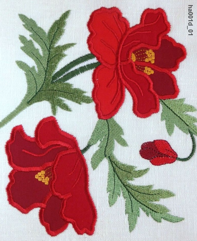 Poppy Applique Machine Embroidery Designs By